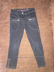 Чёрные штаны скинни для девочки Next