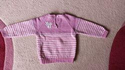 Теплый шерстяной свитерок на 3-6 лет в сост. нового