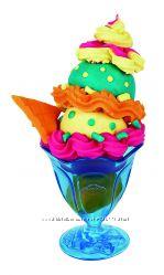 разноцветное мороженое пластилин Плей До Play-Doh Ice Cream оригинал Хазбро