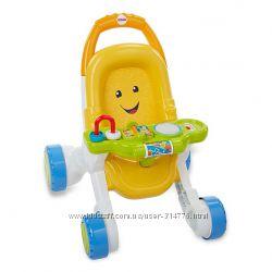 коляска для куклы ходунки музыкальная развивающая панель Fisher-Price США