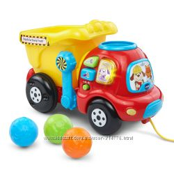 малышу подарок из США машинка каталка самосвал с шариками счет свет музыка