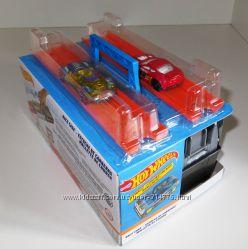 кейс-трек гараж запускатели трек на две машинки Хот Вилс Hot Wheels, Mattel