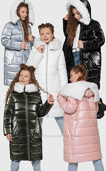 Зимняя куртка, пальто для девочек DT-8305 X-Woyz 110-158 р