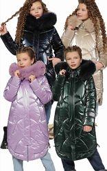 Распродажа Зимнее пальто с натуральным мехом X-Woyz DT-8302 110-158 р.