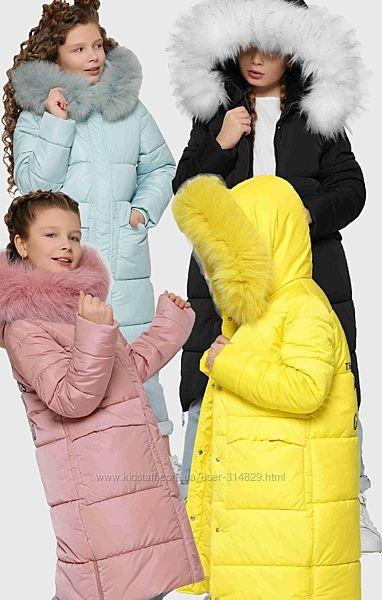 Зимние пальто для девочки от X-Woyz DT-8304 110-158 р