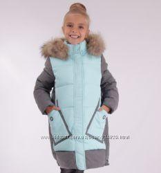 Пальто зимнее 17196 , для девочки Anernou 130, 150, 160, 170