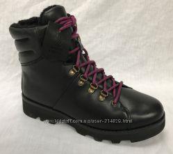 Clarks кожаные зимние ботинки   36, 36. 5, 37. 5, 41, 5