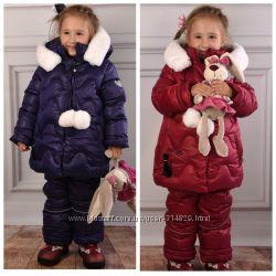 Зимний костюм - комбинезон для девочек Kiko 4980 86-116 размер