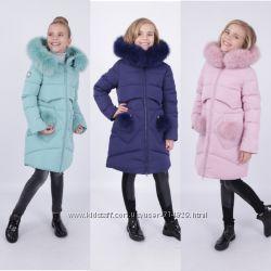 Зимнее пальто для девочек Kiko 4976 122-140 размер
