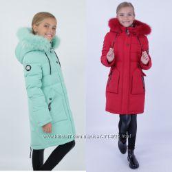 Зимние парка куртка kiko 5355 для девочек 122-146 размер