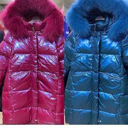 Зимнее пальто, куртка kiko 5743 для девочки 116-134р.