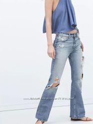 Трендовые слегка расклешенные  джинсы ZARA