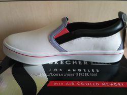 Кожаные слипоны мокасины Скечерс Skechers на ногу 27 см, 11 M US , США