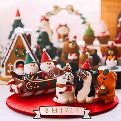 Декоративная статуэтка. Новый год. Рождество. Снеговики. Дед Мороз. Ёлочка.