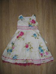 Нарядное платье TU хлопок на 7-8 лет