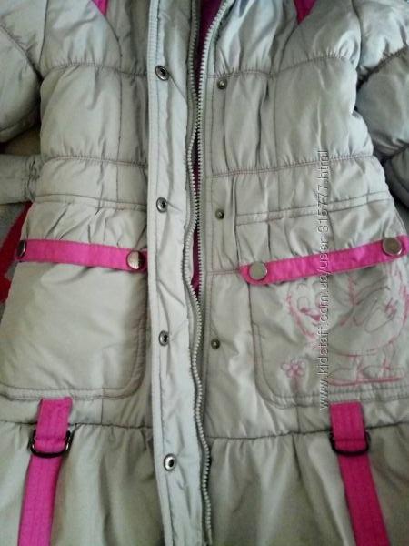 Зимнее пальто, на 6-7 лет