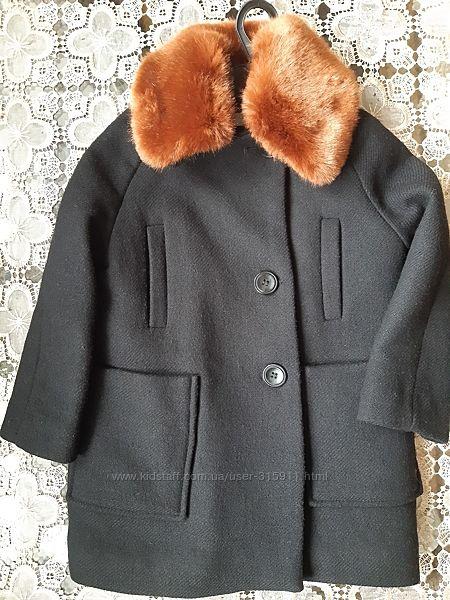 Стильное пальто Zara, размер 110