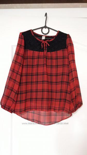 Блуза девочке школьная на рост 134 tu