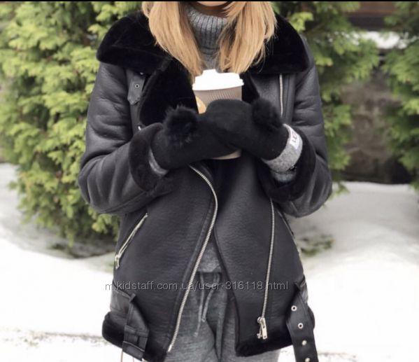 Дубленка косуха Zara , размер S