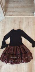 Платье с юбкой тюльпан на 9-10 лет