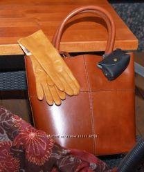 Итальянская сумка-тоут DUU кожа люкс