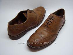 Кожаные туфли броги George Real Leather, р. 45  31см.