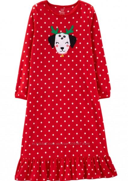 Флисовая новогодняя пижама Картерс на рост 98 см