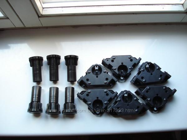 Комплект 6 шт. мебельных цокольных ножек с ползунками REHAU