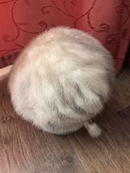 Стильная норковая шапочка универсальный размер