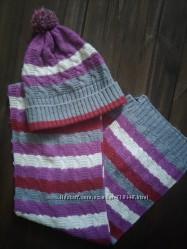 Классный комплект шапка и шарф Chicco 6-8 лет