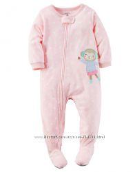 Новая флисовая пижама кмбинезон Carters p. 3Y