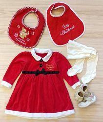 Супер новогоднее рождественское платье Помощница Санты George на 1-1. 5