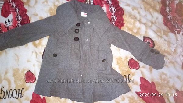 пальто кашемир, теплое 2-3года, большемерит