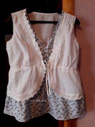 Кофта-блуза с кружевной жилеткой George