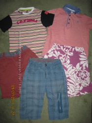 Фирменные шорты и футболки мальчику на 5-6 лет