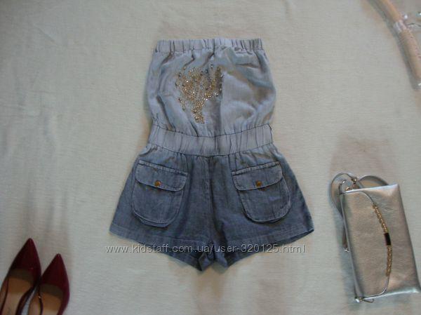 Комбинезон лен шортами
