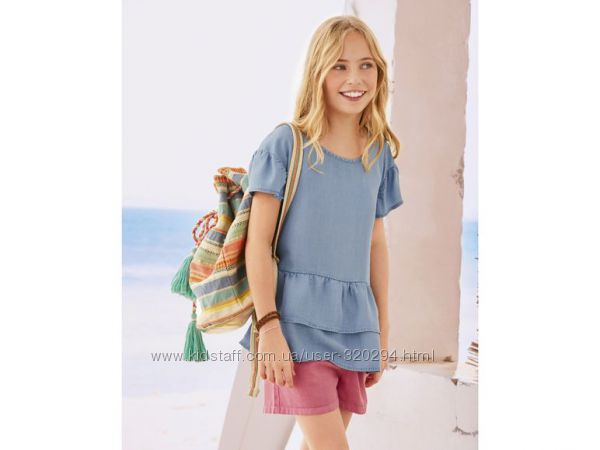 Pepperts нежная оригинальная футболка блуза для девочки Германия