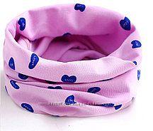 трикотажные шарфы хомуты снуды девочкам