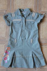 Котоновое платье для девочки  р. 122