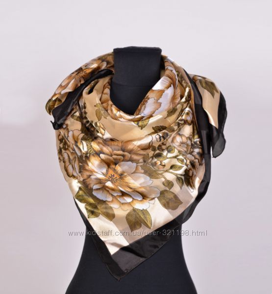 Шикарный платок атласный шелк  105х105