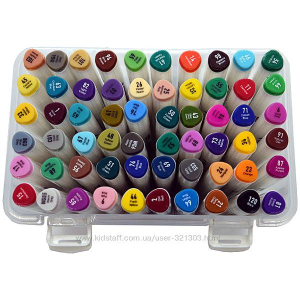 Скетч Маркеры двухсторонние 60 цветов