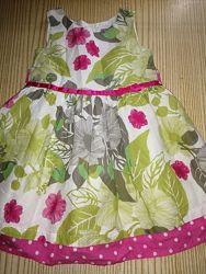 Платье брендовое F&F хлопок нарядные летнее