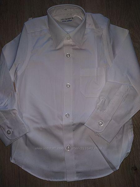 Белая рубашка m&s новая 2,3,4 г  сорочка