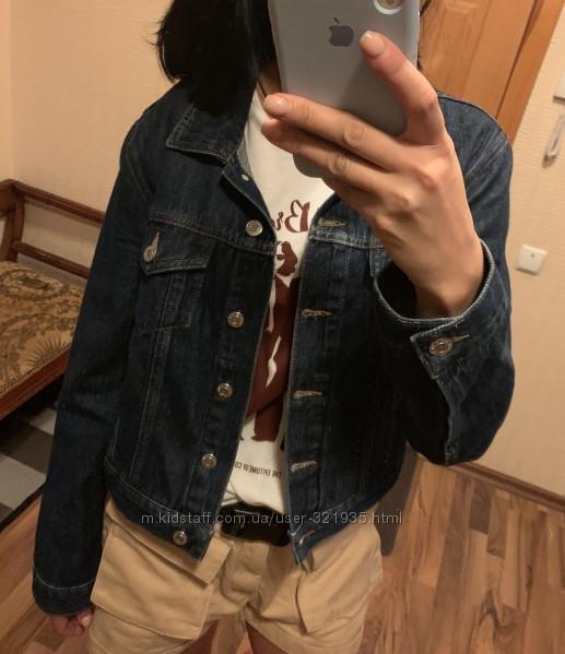 &nbspТемно-синяя джинсовая куртка, размер S-M