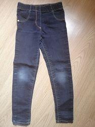 Штаны стрейчевые джинсы скинни на стройняшку 6 7 лет от George
