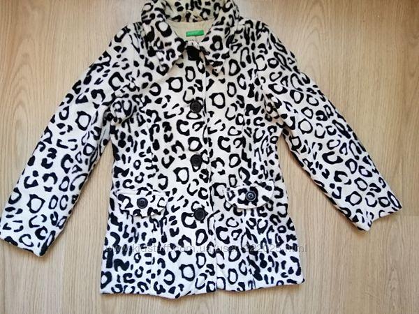 Шикарное деми пальтишко benetton для девочки 5 6 лет пальто плюс подарок