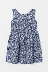 Платье Цветы Коттон Хлопок H&M 9-10 лет рост 140см Cotton Dress