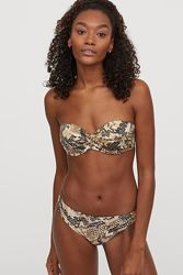 Купальник H&M Бандо топ 34 D бикини плавки р-р 10 Balconette bikini top