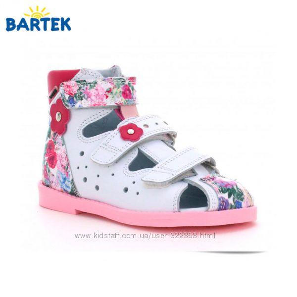 Ортопедические профилактические сандалии BARTEK Размеры 27-32 для девочек