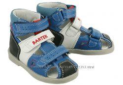 Ортопедические профилактические сандалии BARTEK Размеры 21-26 для мальчиков